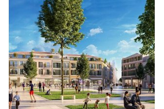 Parmi les 58 chantiers d'immobilier neuf de BNP Paribas Real Estate qui ont repris, on trouve Via Marenda à Antibes. | Via Marenda / Antibes / BNP Paribas Real Estate