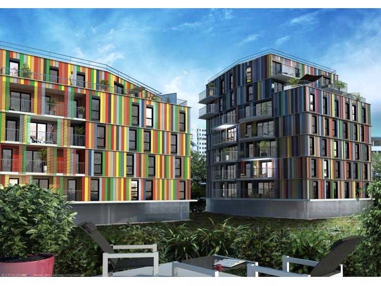 De la couleur pour du logement neuf la courneuve for Trouver logement neuf