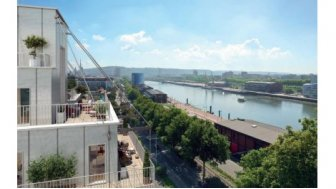 Eco habitat programme Vue Seine Luciline Rouen
