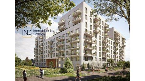 Programme immobilier neuf éco-habitat Eco Quartier Flaubert à Rouen