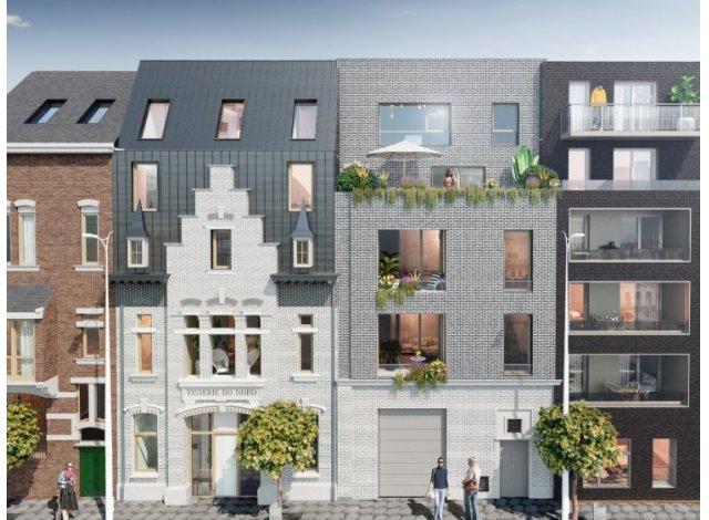 Écohabitat immobilier neuf Les Villas de la Visserie éco-habitat à Lille