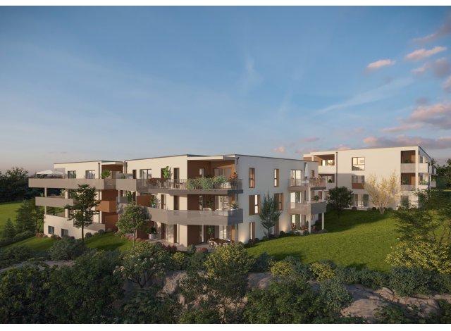 Programme immobilier neuf éco-habitat Monts de Bregille à Besançon