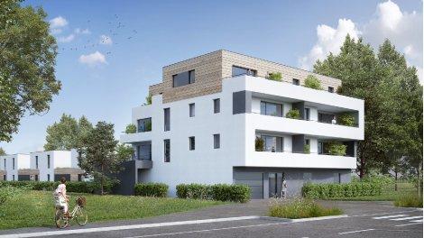 """Programme immobilier loi Pinel Résidence """"le Duo"""" à Strasbourg"""
