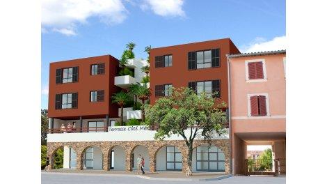 Écohabitat immobilier neuf éco-habitat Cavalaire-sur-Mer Terrasse Cote Mer