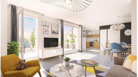 Programme immobilier neuf Reflet de Rives investissement loi Pinel à Bourgoin-Jallieu