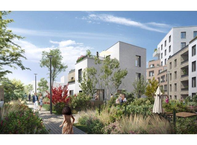 Programme immobilier neuf éco-habitat Le Domaine de la Chesnaie II à Montigny-lès-Cormeilles