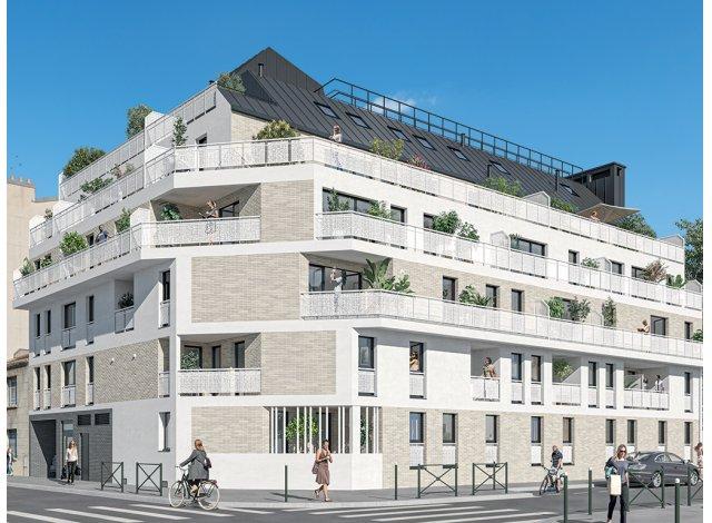 Programme immobilier neuf éco-habitat Convergence à Alfortville