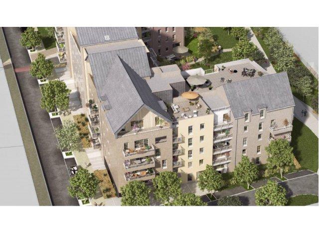 """Programme immobilier loi Pinel Residence """"alix"""" - les Coteaux de l'Abbaye à Caen"""