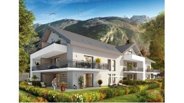 Appartements et maisons neuves Résidence et Hameau Cordice éco-habitat à Doussard
