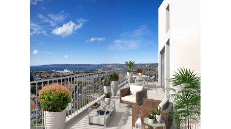Appartement neuf Horizon Méditerranée investissement loi Pinel à Marseille 2ème
