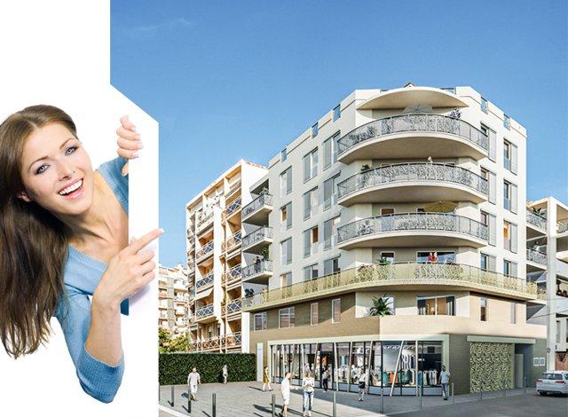 Programme immobilier loi Pinel Cannes la Bocca - 7686 à Cannes-la-Bocca